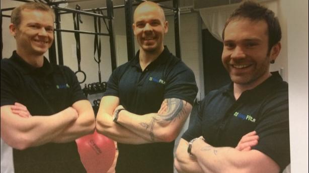 PT-tiimimme: minä, Jussi-Pekka Kurtti ja Mikko Törmälehto!