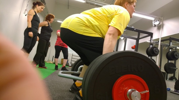 Hanna vetää Trap Barilla 105kg